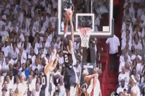 Kawhi Leonard Throws Down Huge 2-Handed Putback During Game 4 of NBA Finals