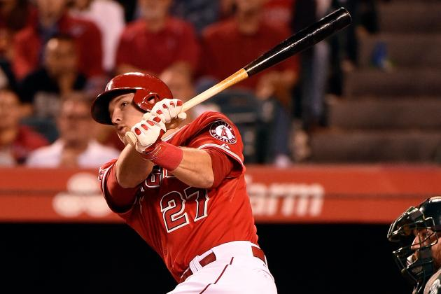 Listen in as Mic'd Up Trout Takes Batting Practice