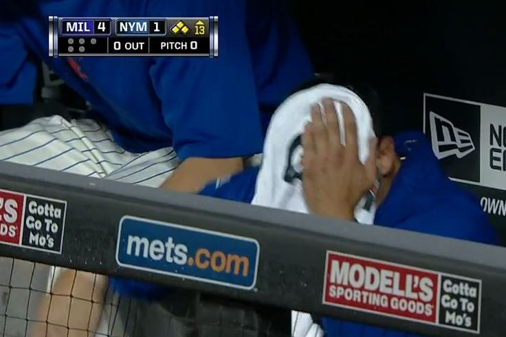 Mets Pitcher Carlos Torres Punches Himself in Head After Rough Outing