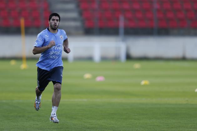 Luis Suarez Will Not Start in Uruguay's World Cup Opener vs. Costa Rica