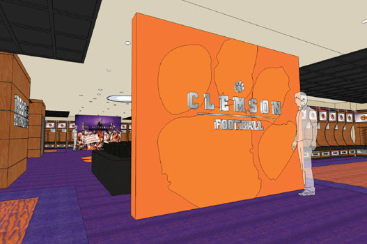 Clemson Features NFL Alums in Renderings of New Locker Room
