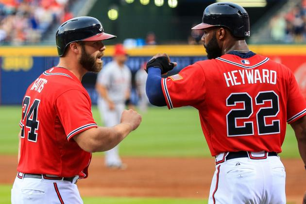 HRs by Gattis, Johnson Lift Braves Past Angels 4-3