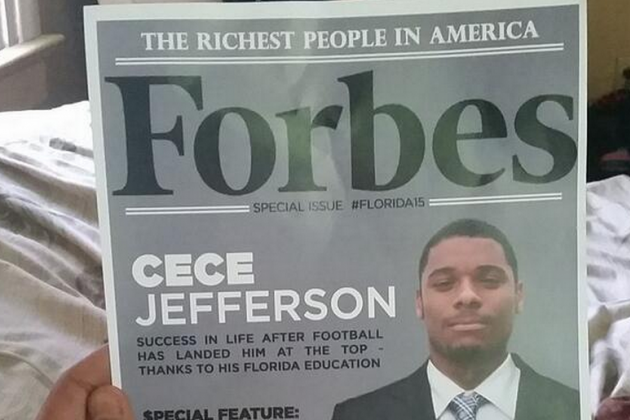 Florida Sends Recruits Photoshopped 'Richest People in America' Forbes Covers