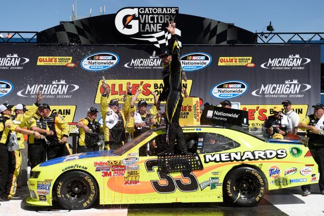 NASCAR Nationwide Series at Michigan 2014: Results: Winner, Standings, Reaction