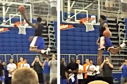 Walker Posts Photo of Himself Dunking with His Head Above the Rim