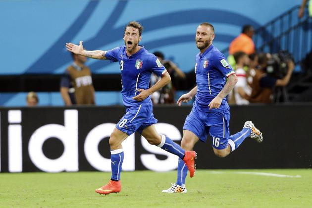 Candreva and Marchisio Prove Prandelli's on the Right Path with Italy
