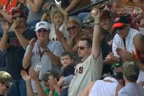 VIDEO: Dad Snags Foul Ball While Holding Son