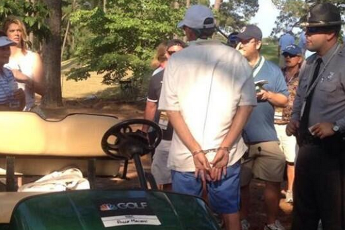 Golf Cart Driver at US Open Charged with DWI After Running over Cop's Foot