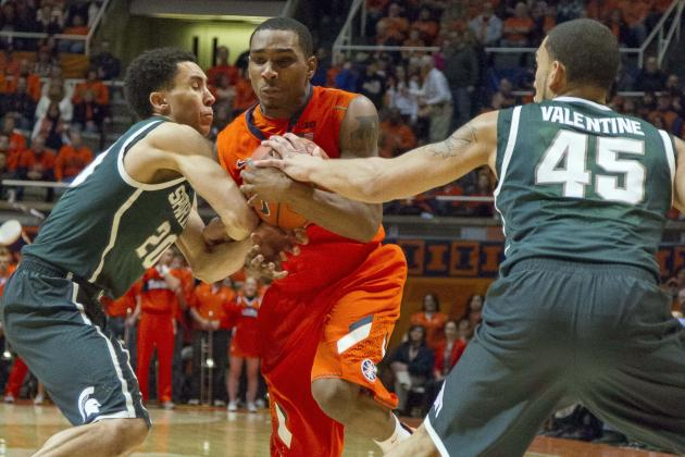Michigan State Basketball: Spartans' Best Starting Lineup for 2014-15