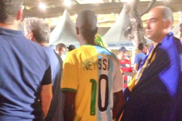 Lionel Messi or Neymar? Fan Can't Pick, Wears Half Argentina, Half Brazil Shirt