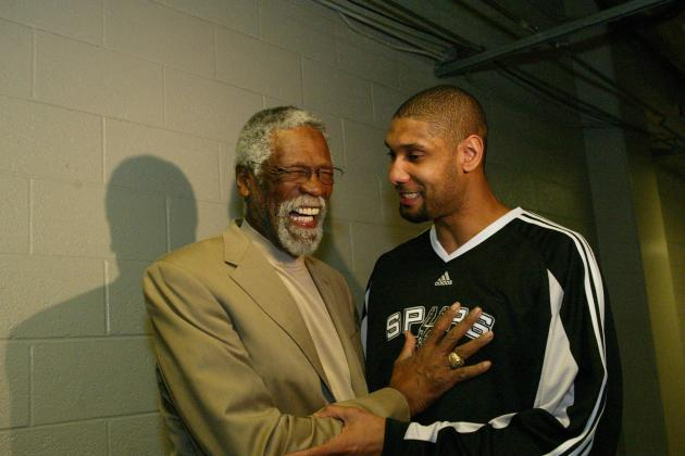 Bill Russell: Tim Duncan 'Right Up There at the Top' Among All-Time Big Men