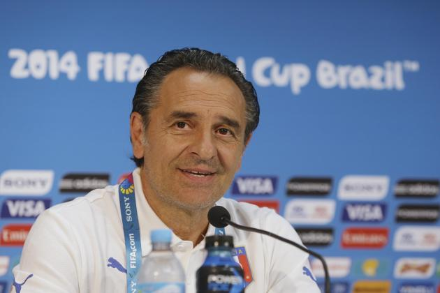 Cesare Prandelli Has Options for Italy's World Cup Clash with Costa Rica