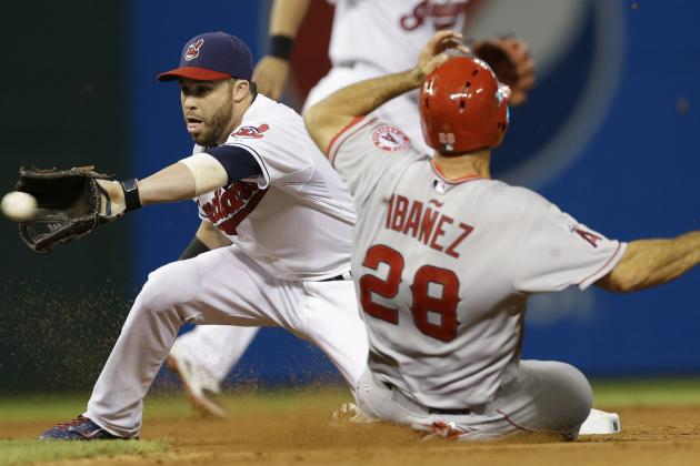 Santana, Cabrera Homer as Indians Beat Angels 4-3