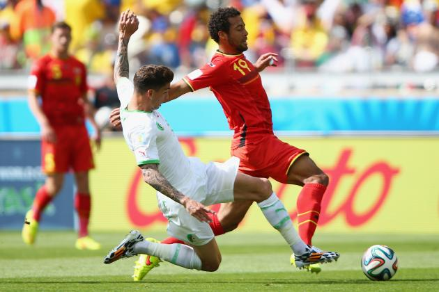 Belgium vs. Algeria: Live Player Ratings for Both Sides