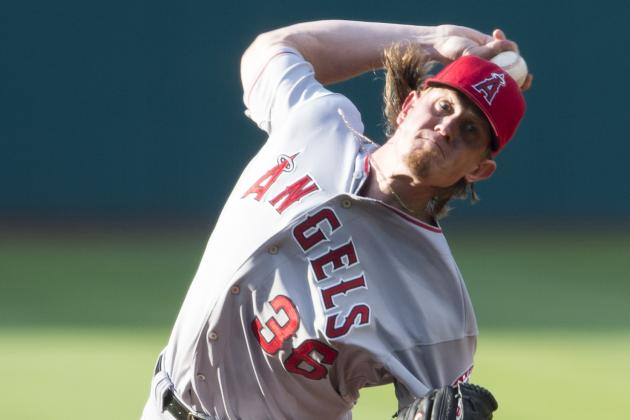 Jered Weaver Hurt by Long Ball in Los Angeles Angels' Loss to Cleveland