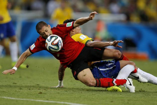 Javier Hernandez: Twitter Reacts to Chicharito's Play from Brazil vs. Mexico