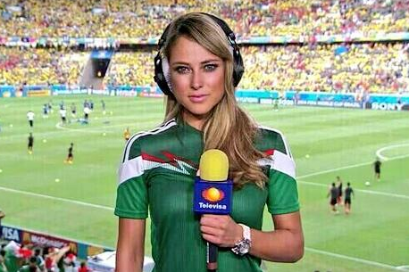 Mexico World Cup Presenters Mariana Gonzalez and Ines Sainz Go Global on Twitter