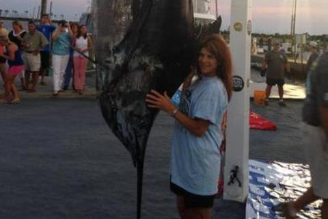 Alabama Woman Wins 3-Hour Battle with 843-Pound Blue Marlin