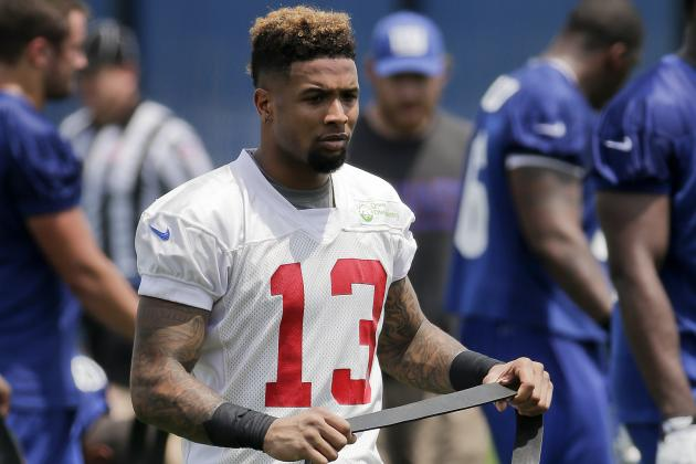 Hamstring Limits NY Giants Rookie Wideout Odell Beckham Jr.