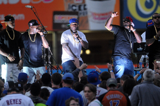 WATCH: Mets Fans Brawl in Stands During 50 Cent Concert