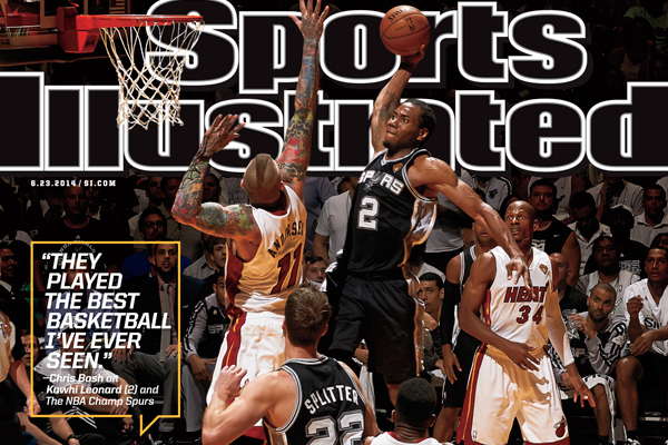 Image: Kawhi Graces Cover of Sports Illustrated