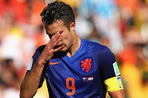 Robin van Persie Banned 1 Match After Yellow Card vs. Australia