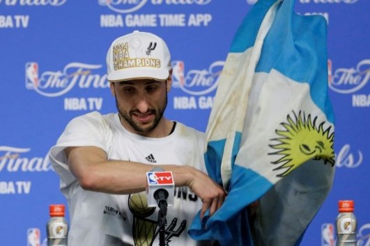 Ginobili's Argentina Flag Soaked with History -- Literally