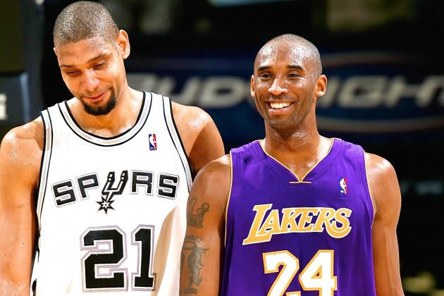 Kobe Bryant 'Not Okay With' Tim Duncan Winning 6th Ring Before Him