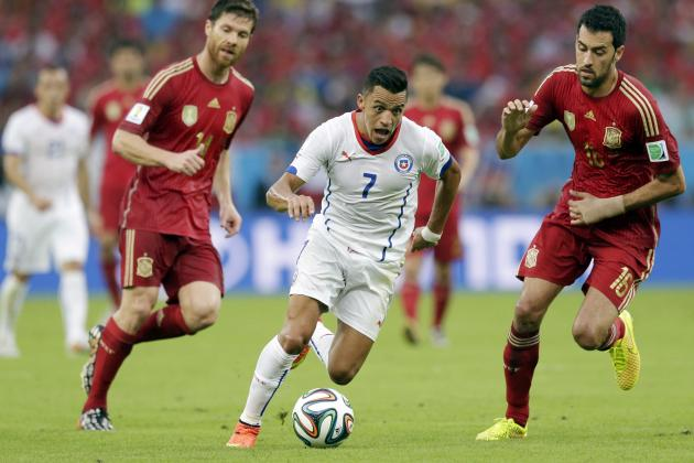 Twitter Reacts to Alexis Sanchez, Arturo Vidal's Performances vs. Spain