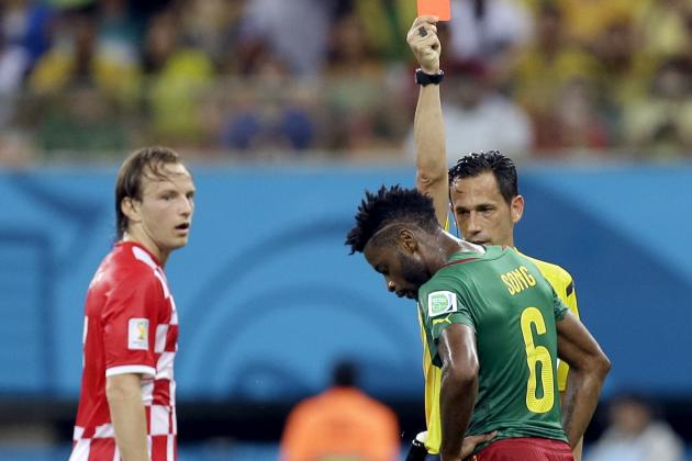 Twitter Reacts to Alex Song's Red Card During Cameroon vs. Croatia
