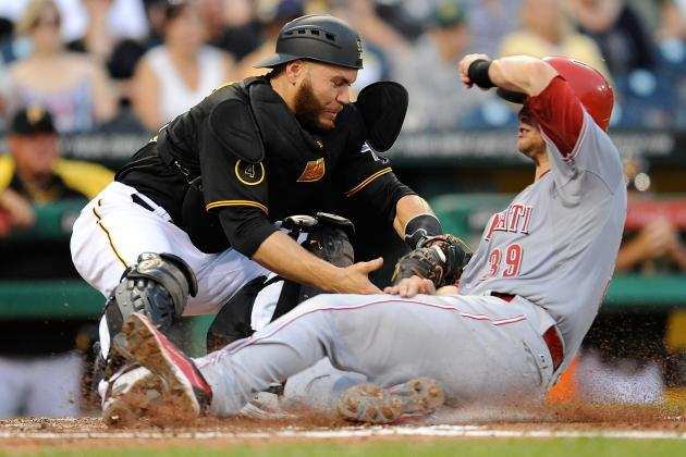 Umpire Reverses Call at Home After Ruling Russell Martin Blocked Plate vs. Reds