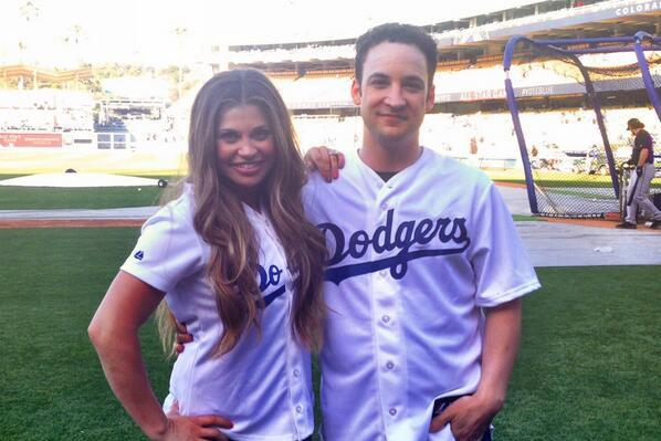 Cory Matthews and Topanga Lawrence from 'Boy Meets World' Attend Dodgers Game