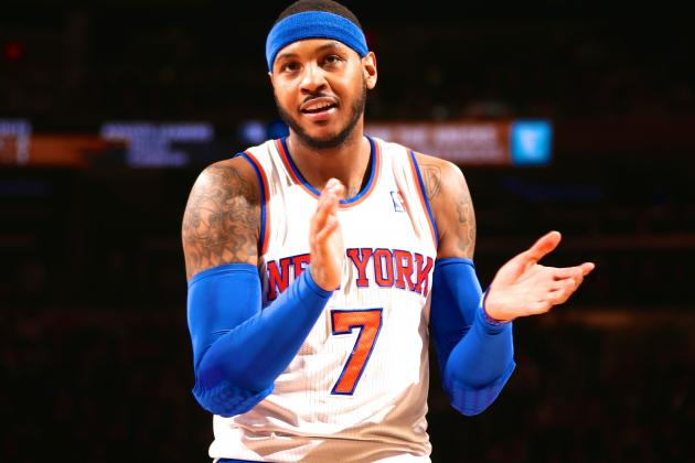 Carmelo Anthony Says Meeting with Phil Jackson and Derek Fisher Went Well