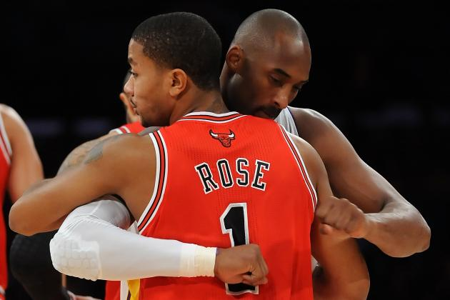Derrick Rose or Kobe Bryant: Who Has More Riding on 2014 NBA Comeback Season?