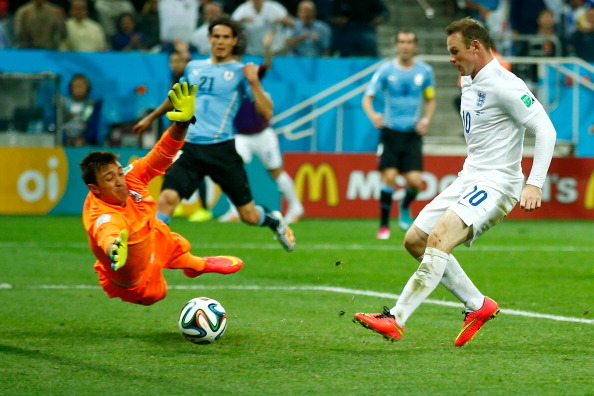Wayne Rooney Scores for England Against Uruguay at the World Cup