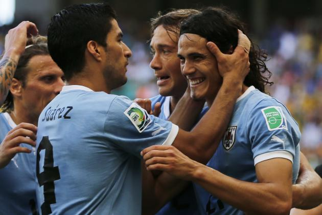 Twitter Reacts to Luis Suarez, Edinson Cavani's Performances vs. England