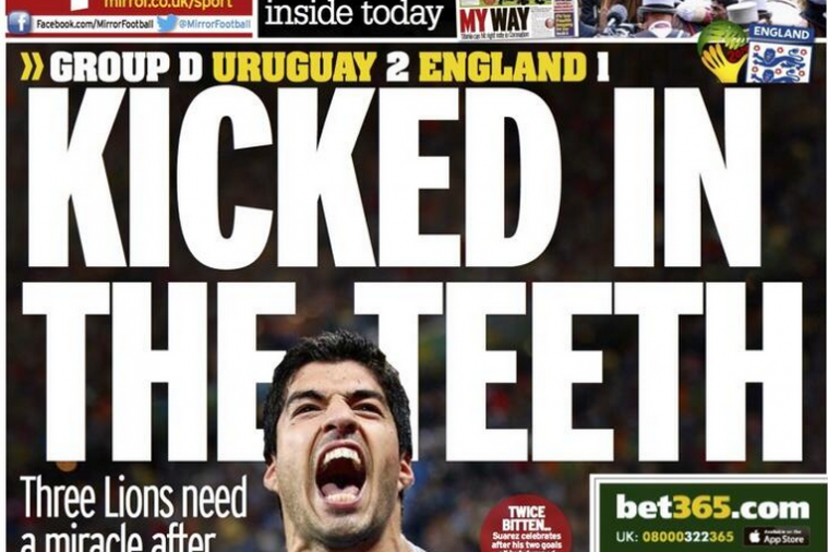 World Cup Paper Review: Uruguay 'Just Two Good' for England