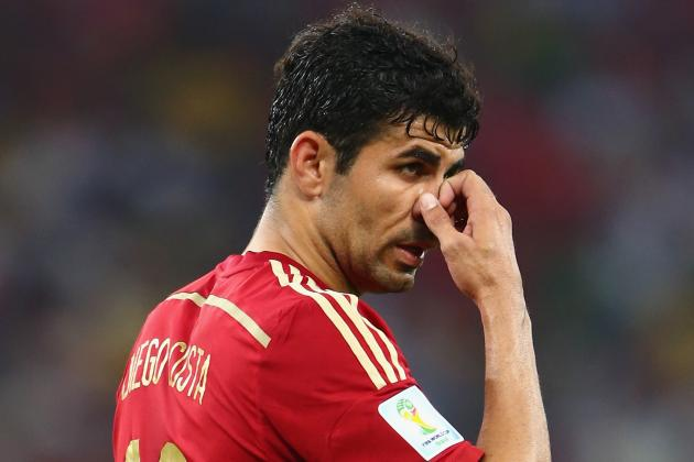 Diego Costa's Poor World Cup for Spain Should Raise Concerns for Chelsea