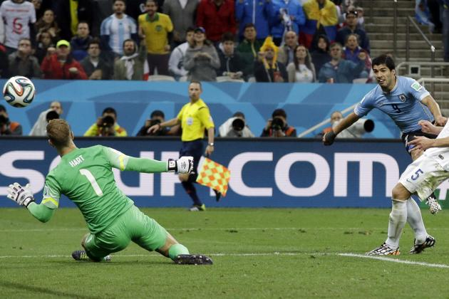 World Cup 2014: England's Defence the Problem in Uruguay Defeat