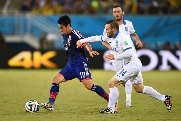 Japan vs. Greece: Honda, Kagawa and Co. Fail to Penetrate Greek Defensive Wall