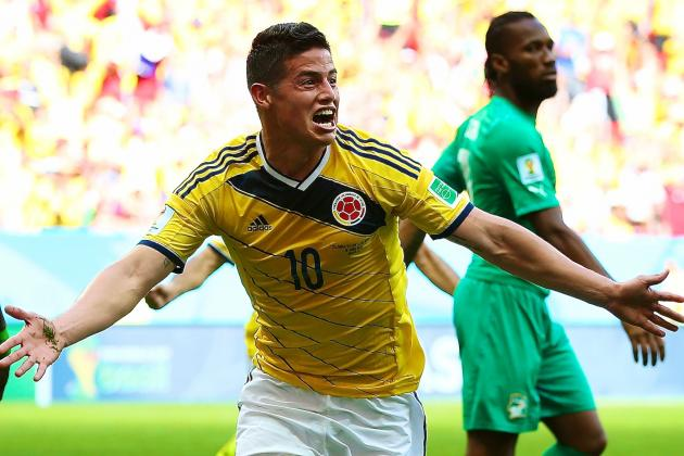 Colombia vs. Ivory Coast: James Rodriguez & Cuadrado Star in Transition Football