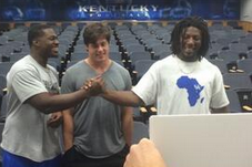 Video: DE Dupree's Reaction to Kentucky Football Poster Is Priceless