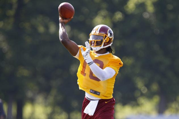 RGIII Unveils Burgundy and Gold Shoe as Tribute to D.C. Fans