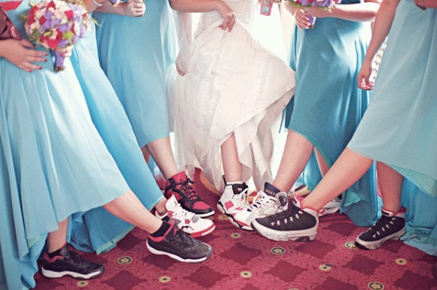 Couple Goes All Out with Air Jordan-Themed Wedding
