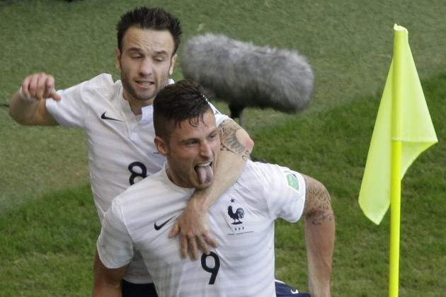 Twitter Reacts to Olivier Giroud, Mathieu Valbuena Performances vs. Switzerland