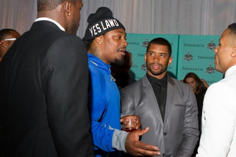 Marshawn Lynch Wears 'Yes Lawd' Beanie to Seattle Seahawks Ring Banquet