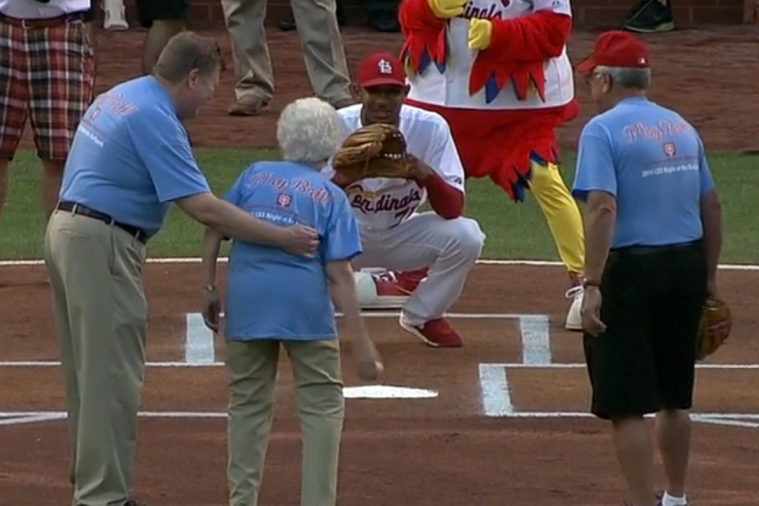 101-Year-Old Cardinals Fan Throws out 1st Pitch for Her Birthday