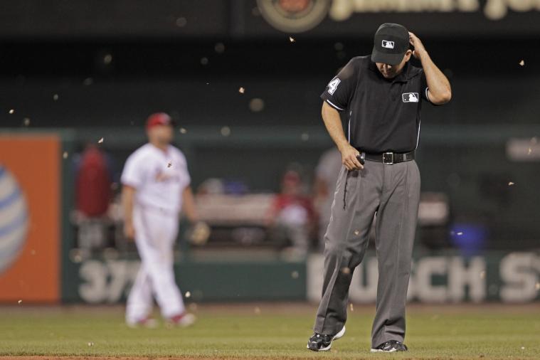 Moths Invade Busch Stadium During Phillies-Cardinals Game