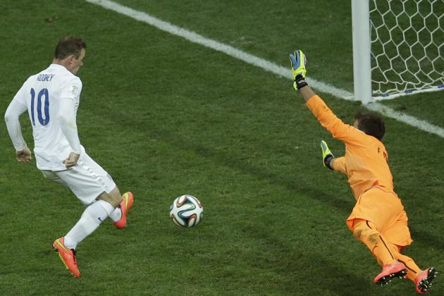 England's Wayne Rooney Reaches 40 International Goals with 1st World Cup Score