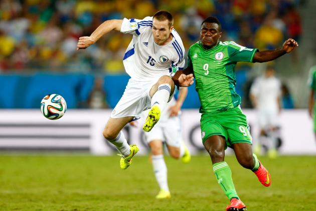 Nigeria vs. Bosnia & Herzegovina: Susic's High Line Ravaged by Emmanuel Emenike